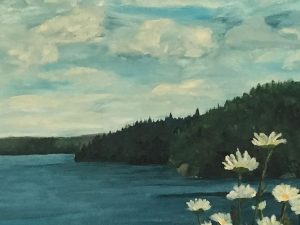 oil painting of Daisies in the Summer Breeze