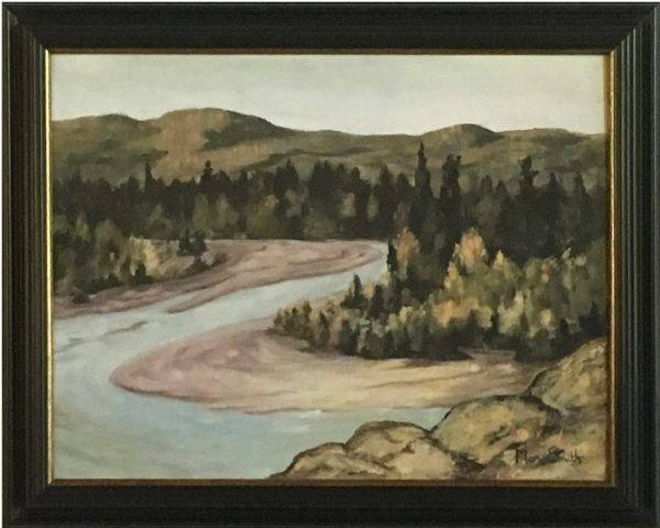 oil painting of River Bend