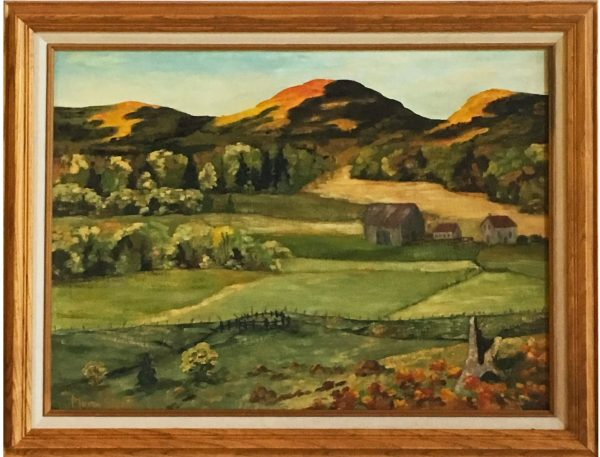 oil painting of Across the Fields