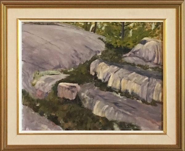 oil painting of Rock Study