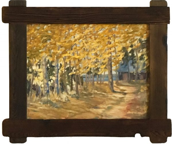 oil painting of Driveway to Lakeside Cottage D-Line