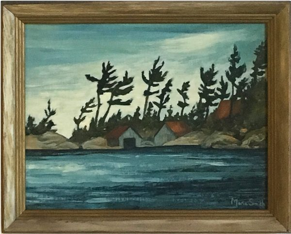 oil painting of Windswept Pines on Matthew Island